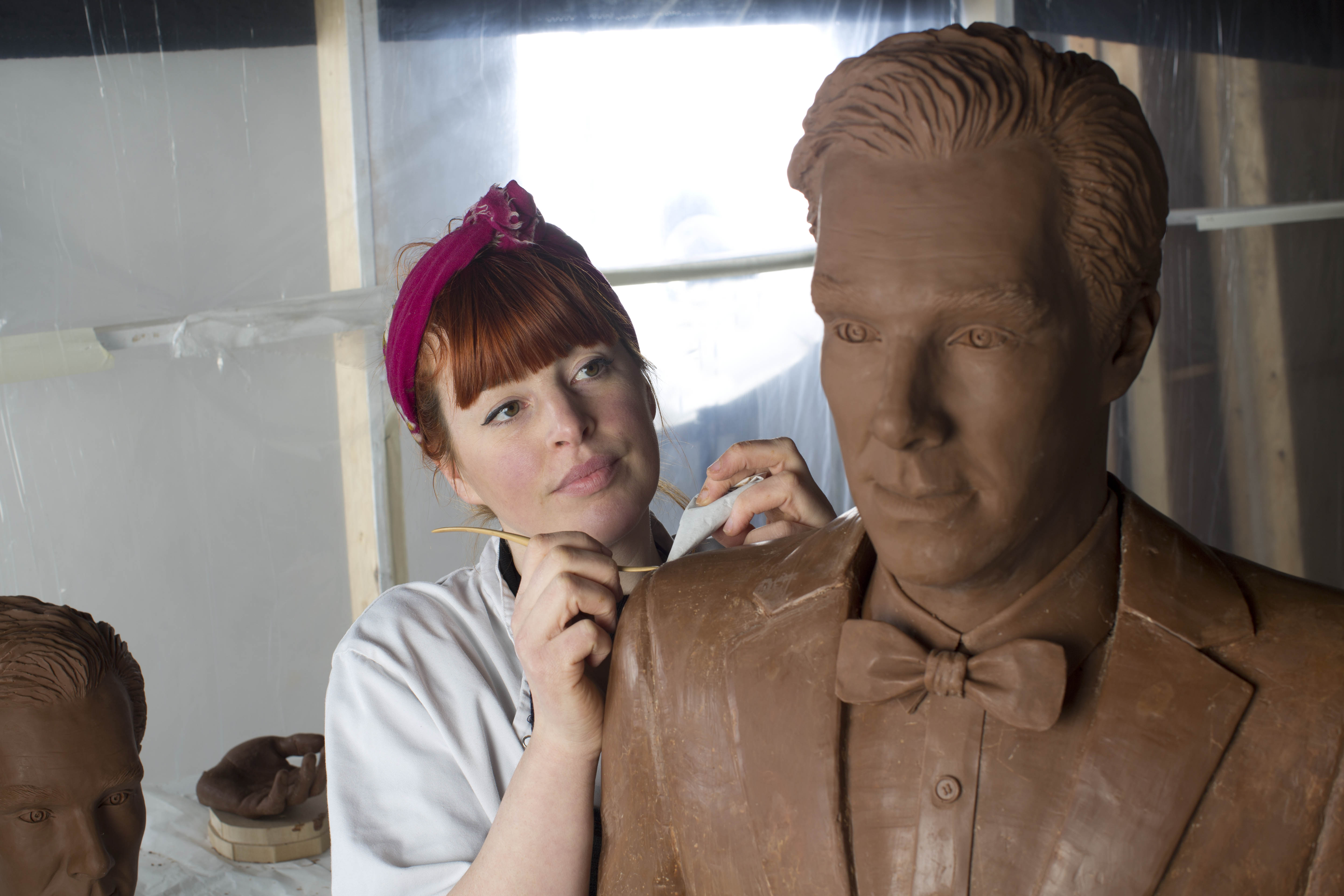 Life-size chocolate Benedict Cumberbatch to promote launch of TV channel 'Drama' on uktvplay.co.uk, Britain - 01 Apr 2015