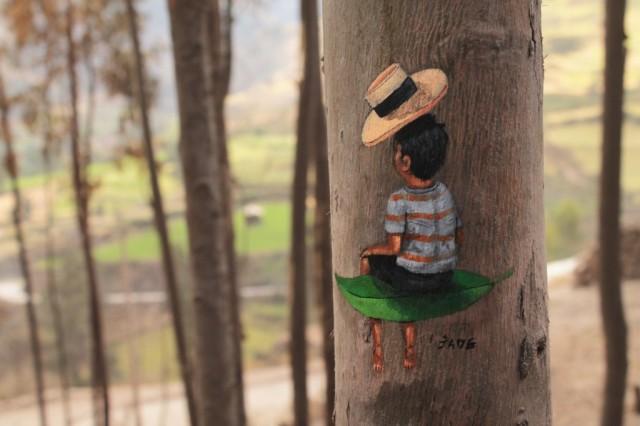 Перуанські картини на деревах
