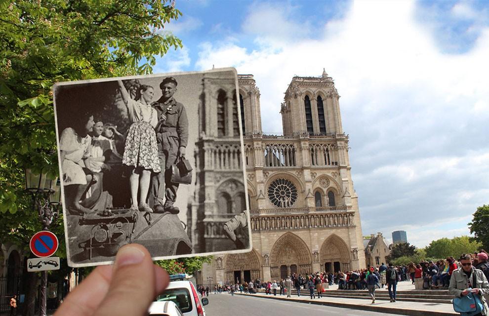 Париж 1940 року на тлі сучасності