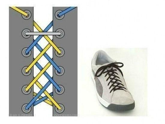 17 способів зав'язати шнурівки на кедах