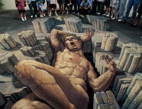 10 величних 3D малюнків на асфальті