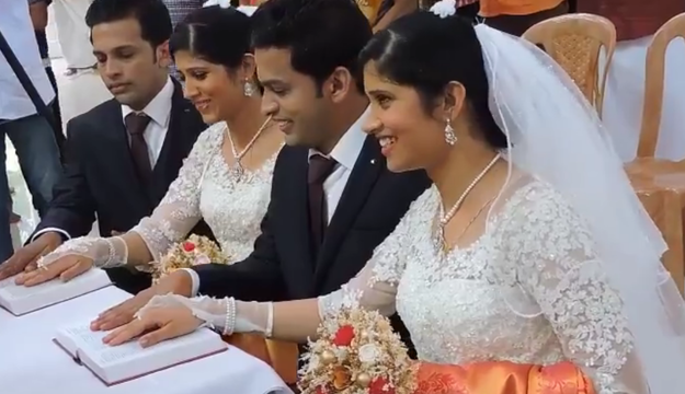 В один день пара близнюків одружилися з іншою парою близнюків