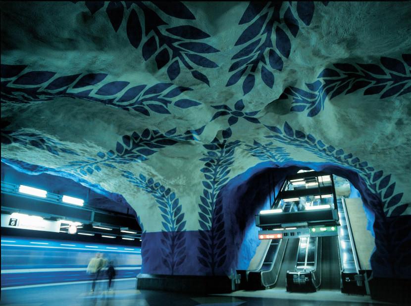 Konst i tunnelbanan
