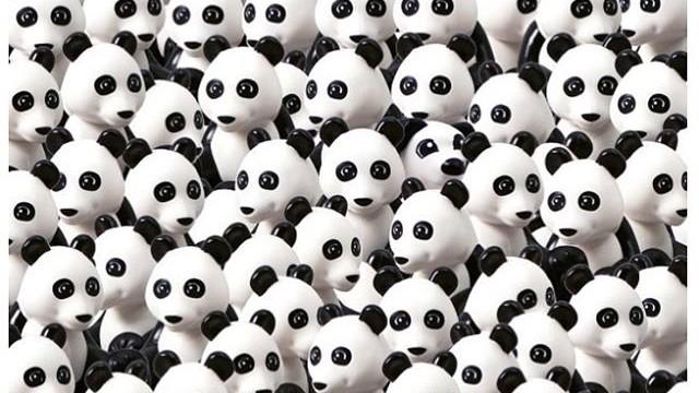 Знайдітьlego-пса між пандами