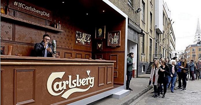 Бренд пива Carlsberg створив справжній бар з шоколаду