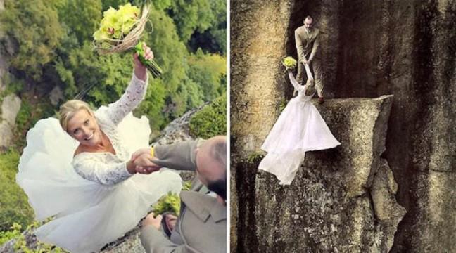 Найекстримальніша весільна фотосесія