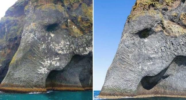 Скеля-слон у Ісландії