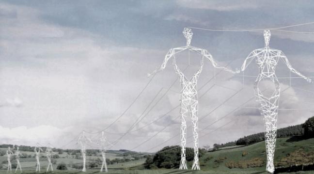 Нові електричні стовпи у Ісландії