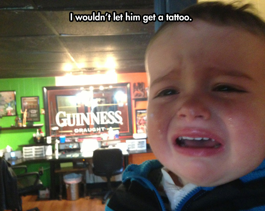funny-baby-crying-tattoo-shop-mirror