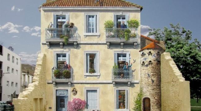 Французький художник розмальовує фасади старих будівель, вдихаючи у них нове життя