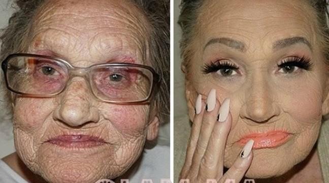 Онука зробила бабусі макіяж, який допоміг їй скинути 20 років!