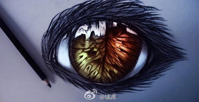 Неймовірно круті малюнки очей від китайського художника