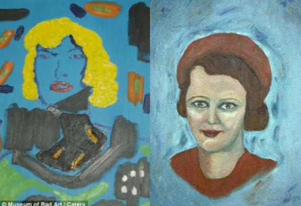 Блондинка на синьому фоні (ліворуч), Ейлін (праворуч)