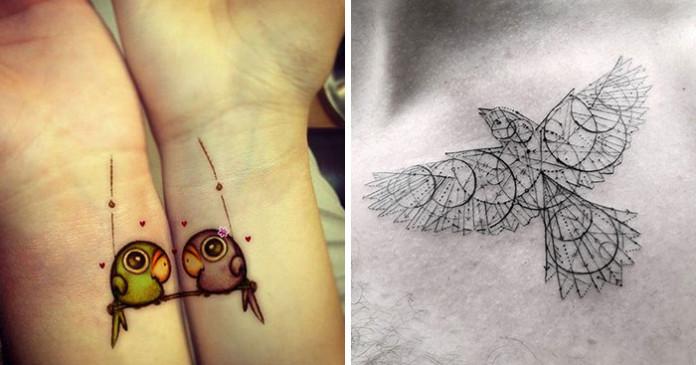 15 свіжих ідей татуювань з пташками
