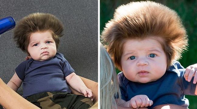 Зачіска цього 2-місячного малого звела з розуму усіх модників