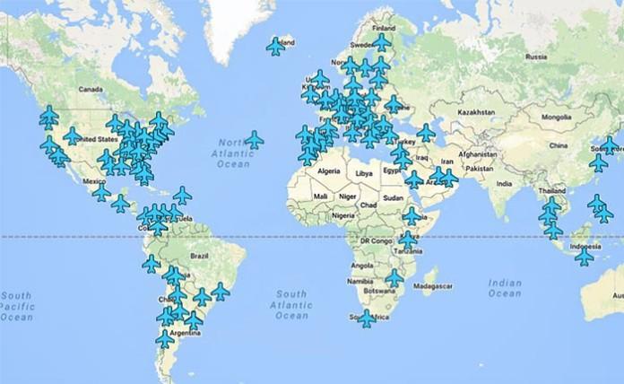 На цій карті є паролі від Wi-Fi будь-якого аеропорту світу