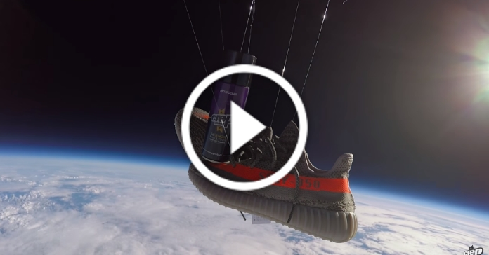 Виробник водовідштовхувального спрею для взуття відправив кросівки Adidas в космос