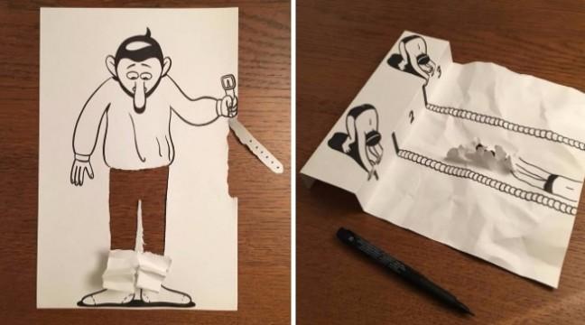 Геніальні і до божевілля винахідливі постановки, зроблені зі звичайних листків паперу