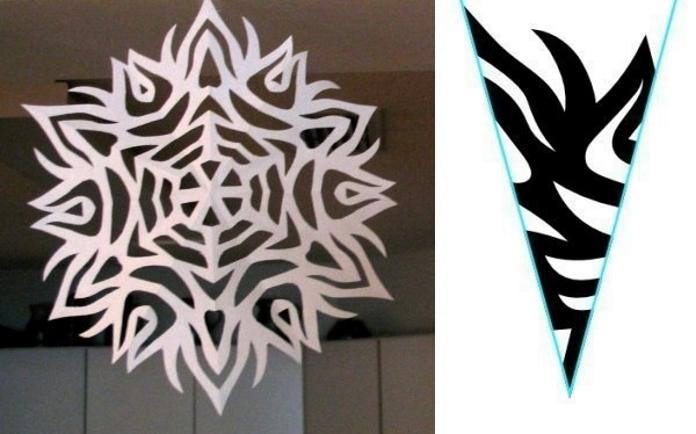 Вирізаємо паперові сніжинки: 6 оригінальних схем