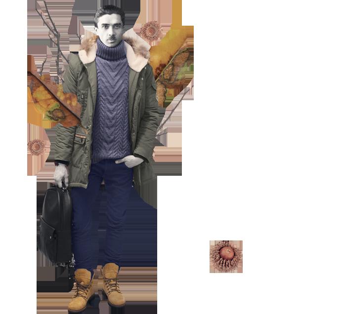Речі: джинси Brooklyn Brooklyn, светр Caterina&me,  парка DASTI, рюкзак AMPM, годинник Mantra Leather
