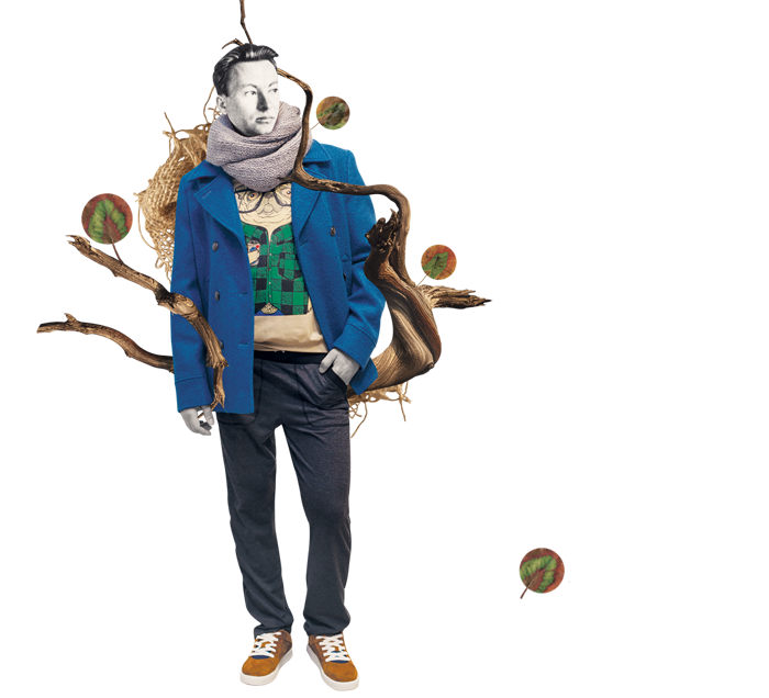 Речі: штани ZEN WEAR, світшот J.Cook,  пальто та кросівки Duck Side, снуд Zhanna UDLER