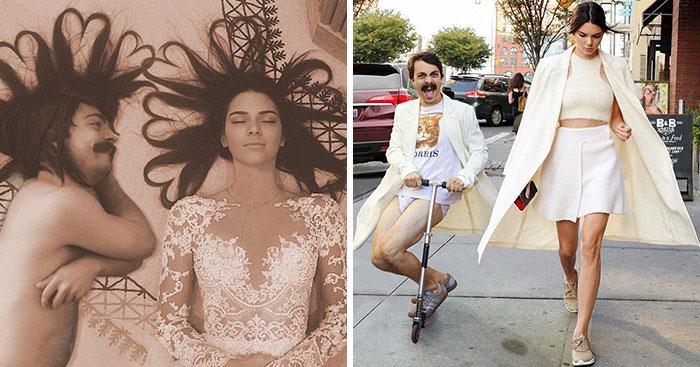 """Чоловік """"прифотошоплює"""" себе до фото Кендал Дженнер, роблячи їх в рази ефектнішими"""