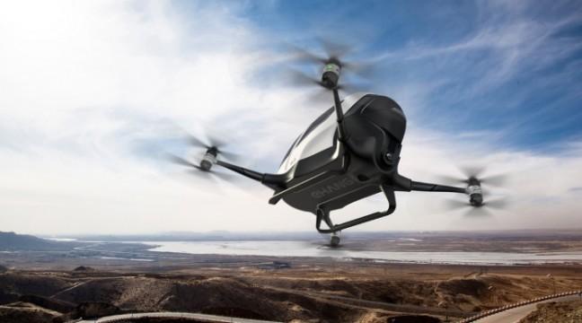 Китайці презентували перший в світі дрон-таксі EHang 184