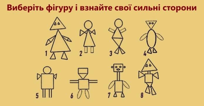 Виберіть фігуру на малюнку і взнайте свої сильні сторони