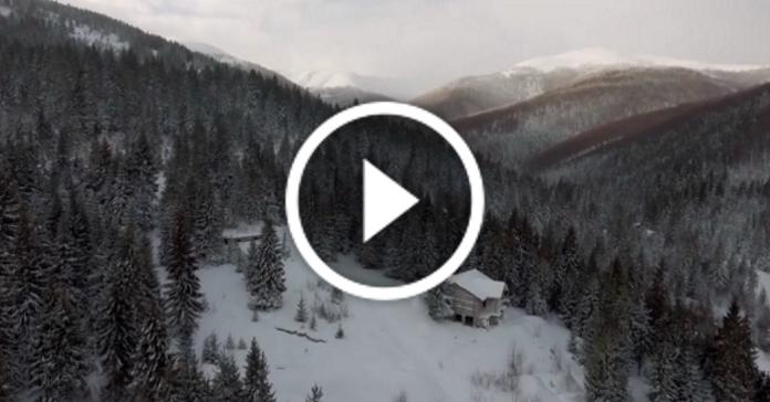 Україна дивовижна! Зимові Карпати з висоти пташиного польоту