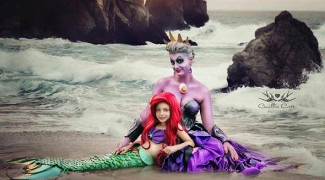 Погляньте, які круті фото-пародії на героїв Дісней роблять 7-річна донька та її мама