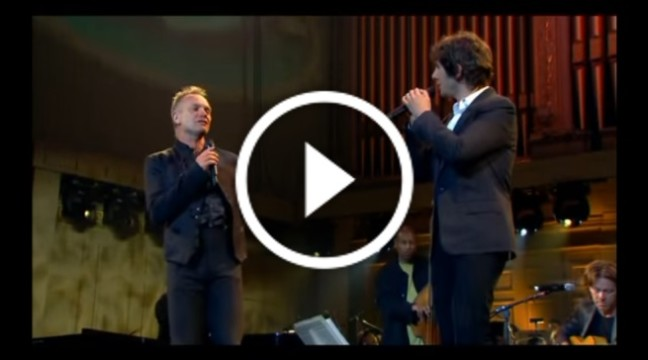 """Проймаюча пісня """"Shape of My Heart"""" у виконанні легендарних Стінга, Джоша Гробана та трубача Кріса Ботті"""