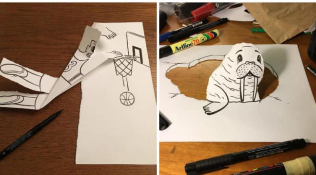 """Ілюстратор застосовує 3D-хитрощі, щоб """"оживити"""" своїх паперових героїв (частина 2)"""