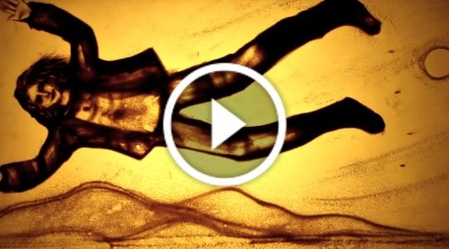 Незвичний фільм із піску про Кузьму Скрябіна. В пам'ять про співака