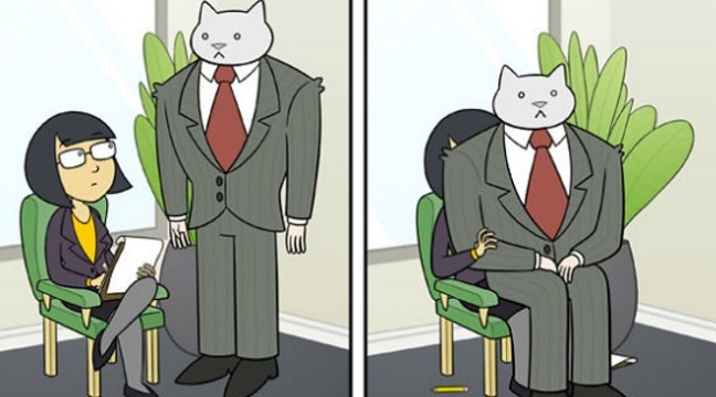 Якби ваш шеф був котом (10 дивакуватих коміксів)