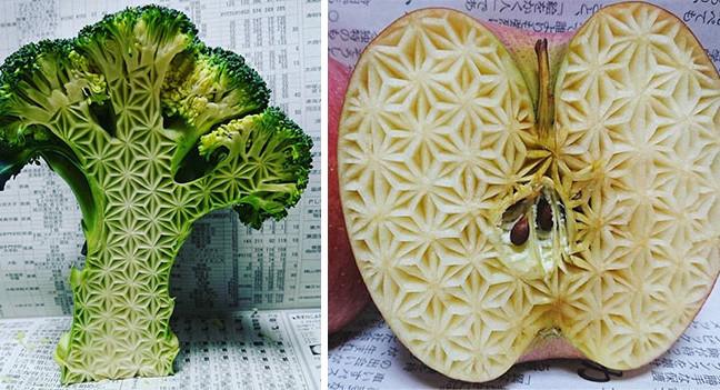 """Різьба по їжі від японського митця """"Gaku"""""""