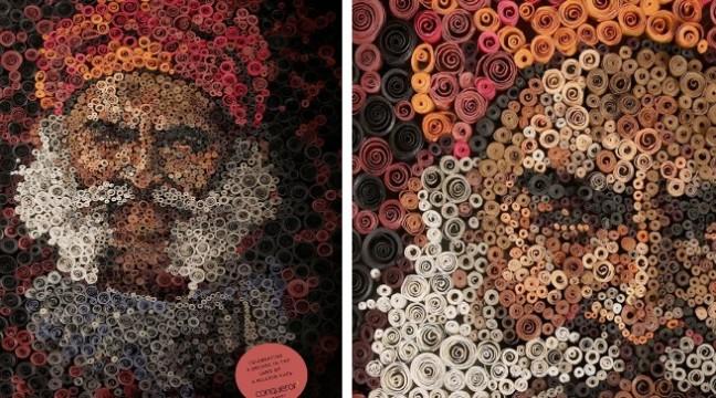 Портрети з рулонів паперу. Надзвичайно креативно