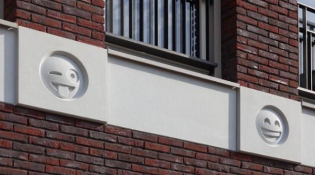 Архітектор з Нідерландів прикрасив фасад будівлі смайлами