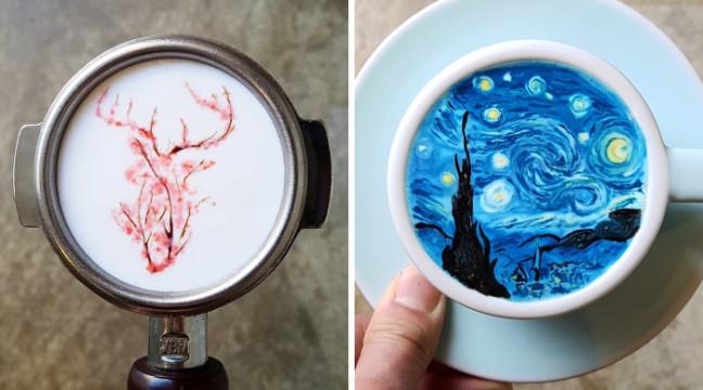 Креативна кава від бариста Kangbin Lee із Кореї