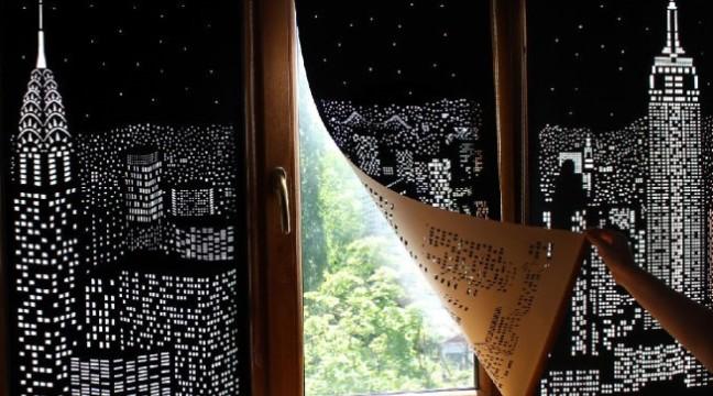 Чорні занавіски, які створюють ілюзію, ніби ти живеш в пентхаусі над великим містом